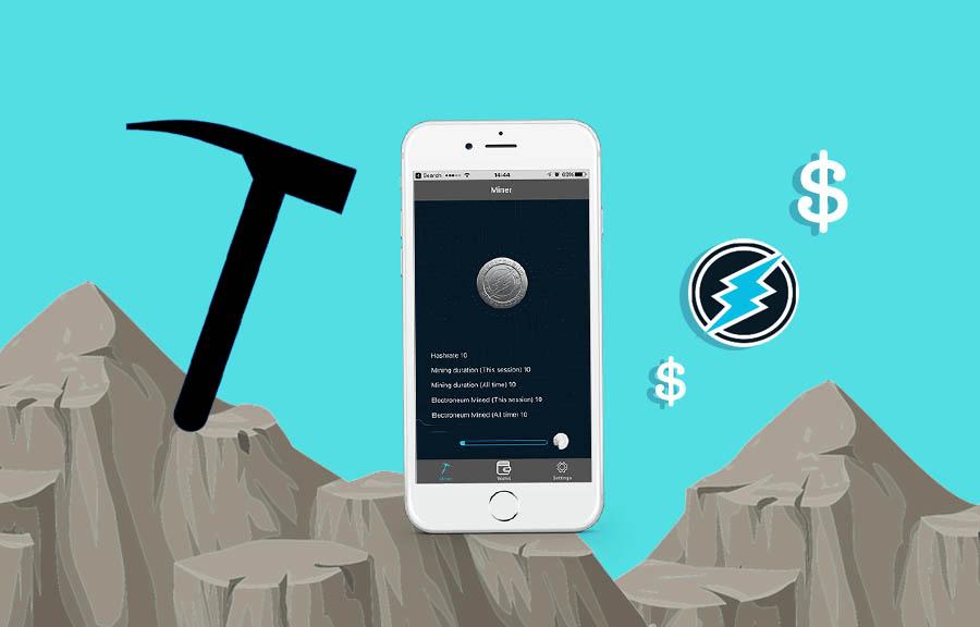 добыча криптовалюты iphone