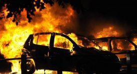 пожар в гаражах москва