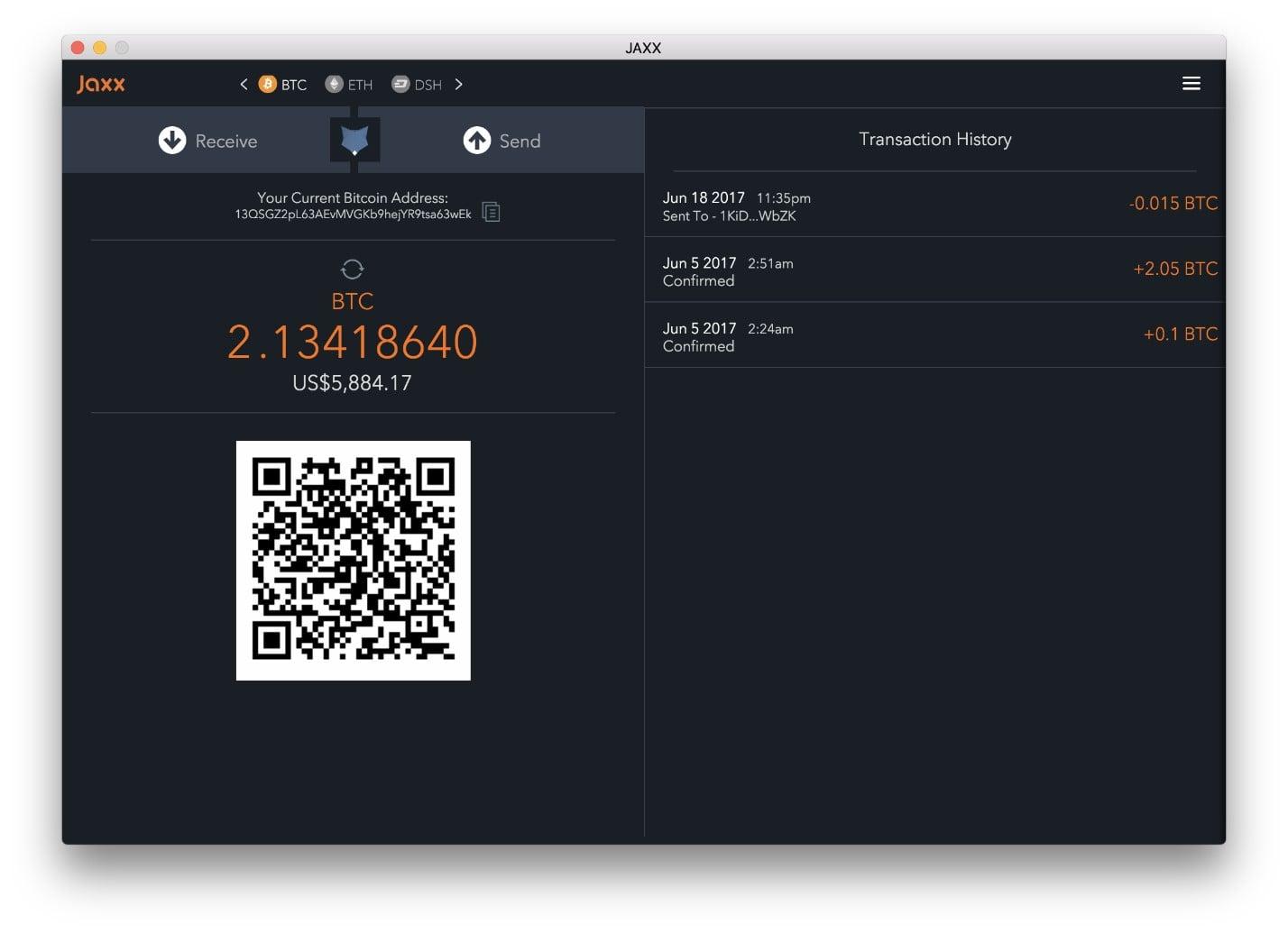 Jaxx Обзор интерфейса