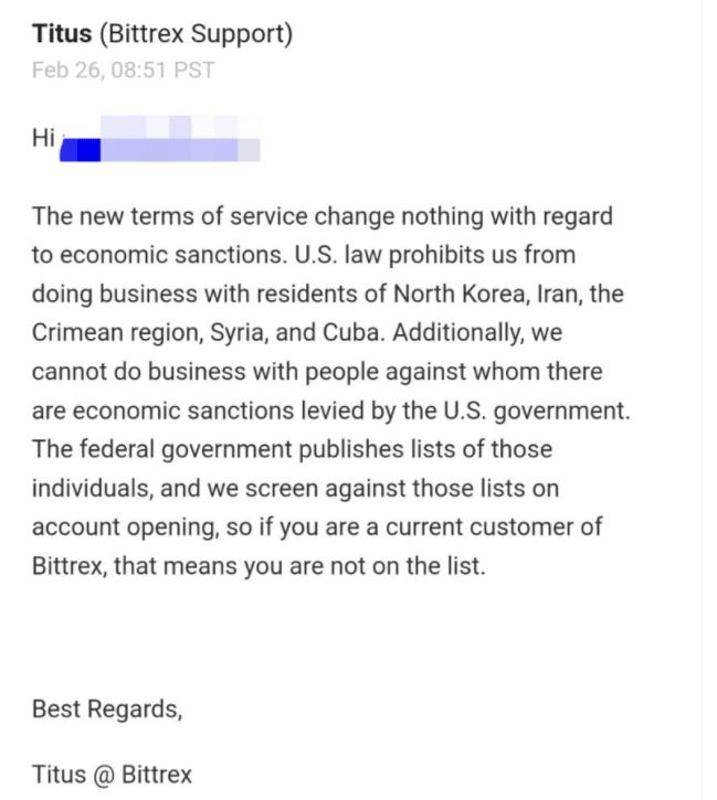 Bittrex не доступен для крымчан