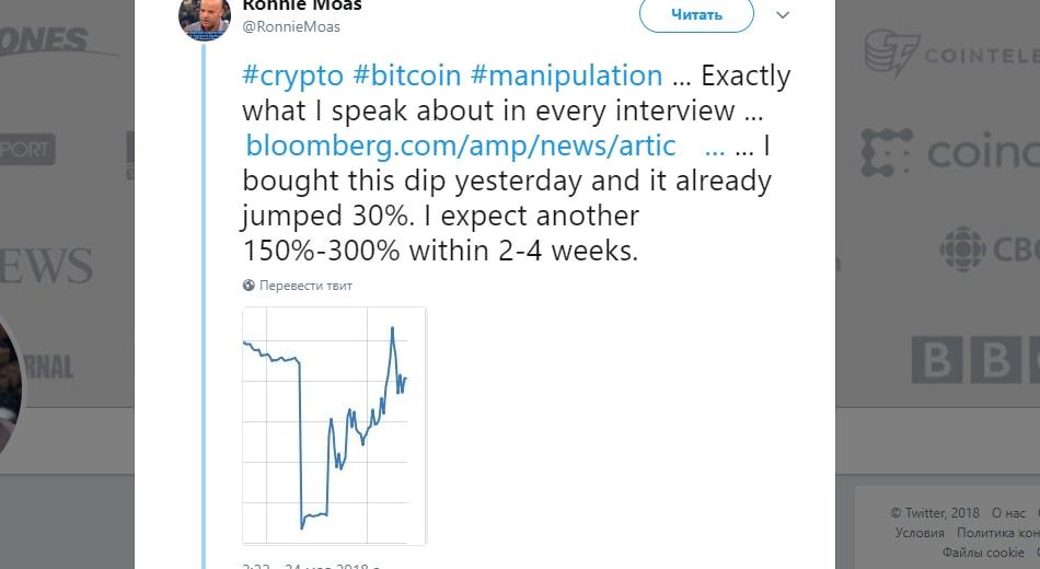 Ронни Масс советует покупать биткоин
