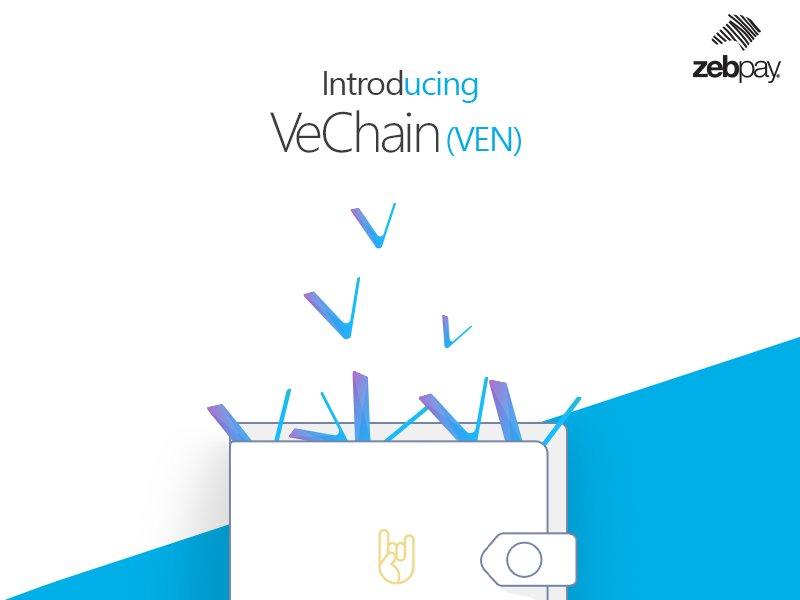 VECHAIN (VEN) Выход криптовалюты на биржу Zebpay