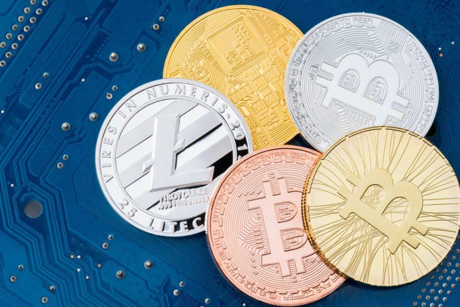 5 криптовалют обеспечивают основной тороговый объём рынка цифровых валют