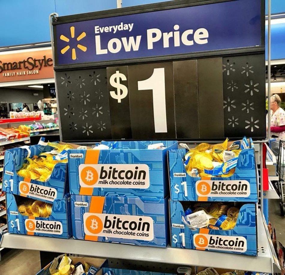 Walmart продаёт главную криптовалюту