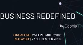 SophiaTX (SPHTX) - BUSINESS REDEFINED 2018 в Сингапуре