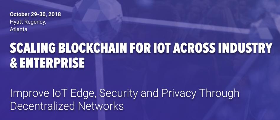 IOTA (IOT) - Участие в саммите IoT Blockchain в Атланте