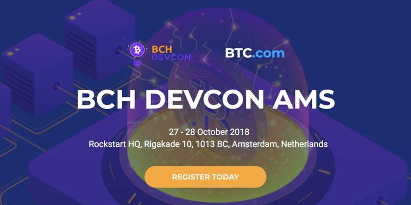 Bitcoin Cash (BCH) - Проведение хакатона BCHDEVCON в Амстердаме