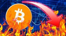 Курс биткоина упал на 500 долларов всего за два часа