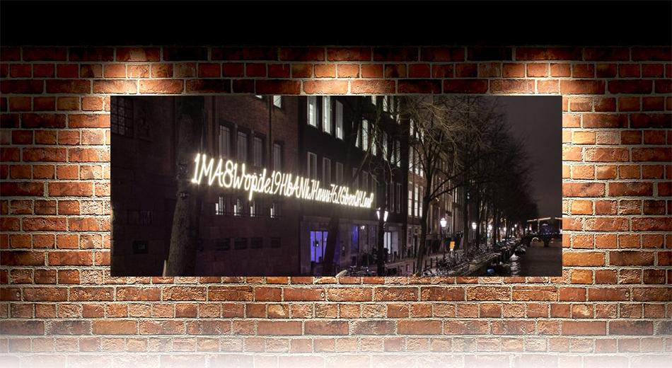 В Амстердаме установили необычную инсталляцию
