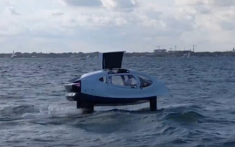 В Майами показали прототип водного такси Bubble Taxi