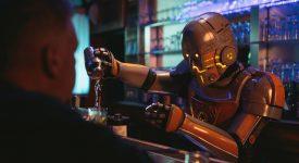 Кафе-киоск с роботом
