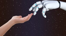 Проповедующий буддизм робот-гуманоид