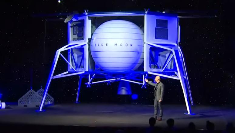 Глава Amazon Джефф Безос организовал презентацию лунного модуля Blue Moon