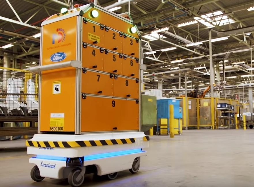 Компания Ford использовала вспомогательного робота для облегчения условий труда своим сотрудникам