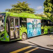 Во Франции запустили гибридный электроавтобус