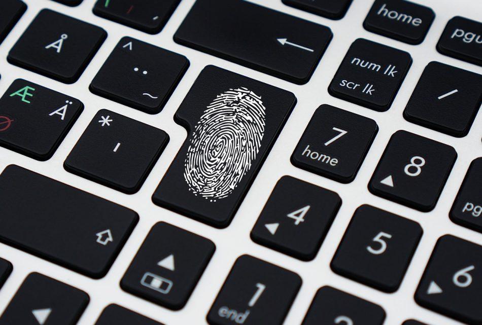 Отпечаток пальца на клавише