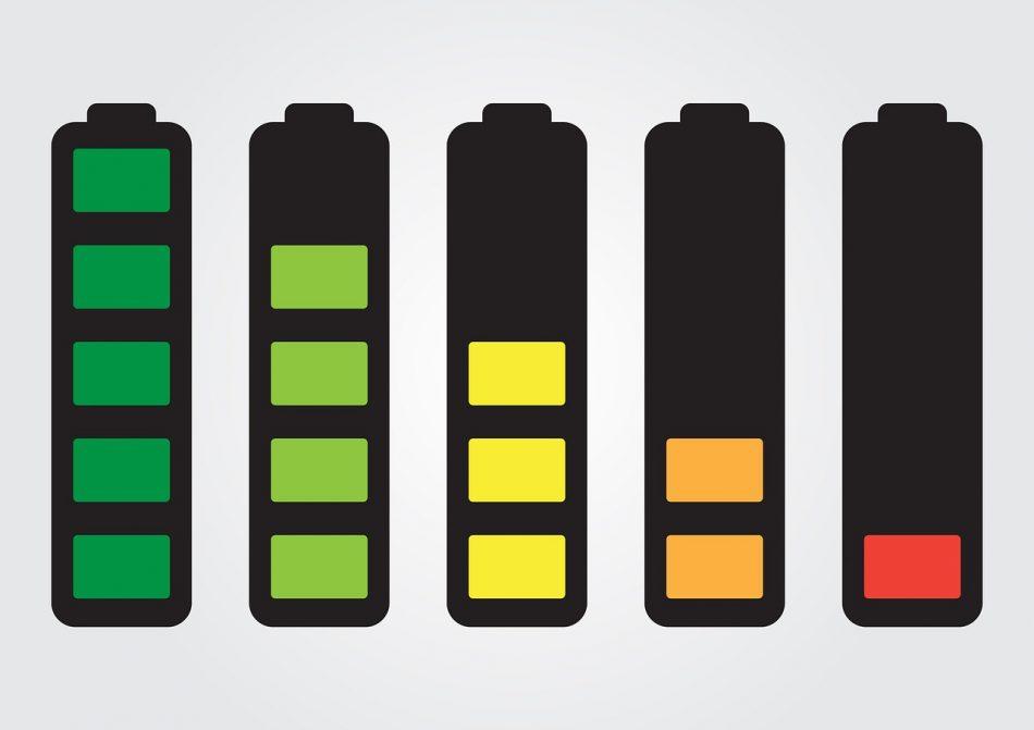 Уровень заряда аккумуляторов