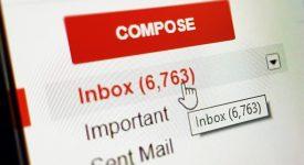 Внутри почты Gmail